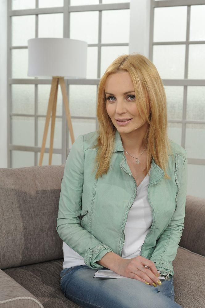 """Agnieszka Szulim na planie programu """"Stylowy magazyn"""""""